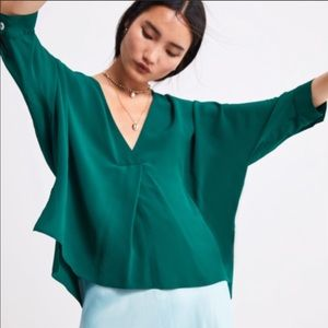 Zara Oversized Green Blouse